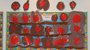 Look at our symmetrical robins.  Maths is fun!