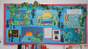 P5/6 collage art work bades on the work of Henri Rousseau